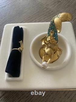 2000 Estee Lauder Pleasures Sparkling Mermaid Solid Perfume Compact