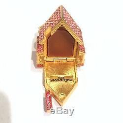 2001 Estee Lauder Victorienne Dollhouse Belle Boîte Compacte Solide