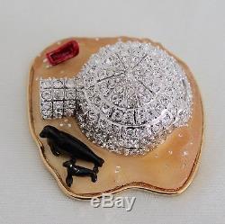 2002 Estee Lauder Jewellery Compact Igloo Givré Pleasures Parfum Solide Rare