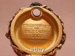 2003 Estee Lauder Parfum Solide Jeweled Nest Oeufs Plaisirs Compacts Eau Forte