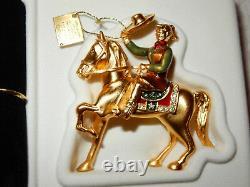 2003 Estee Lauder Texas Rodeo Cowgirl On Horse Pleasures Parfum Solid Compact