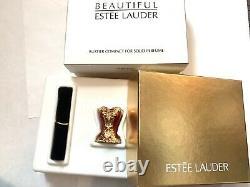2004 Estee Lauder Bustier Beau Parfum Solide Compact Box