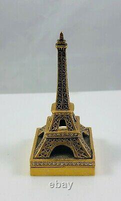 2006 Estee Lauder Beyond Paradise Solid Perfume Compact Tour Eiffel Avec Swarovski