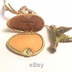 2006 Estée Lauder Fluttering Hummingbird Pleasures Parfum Solide Compact Box