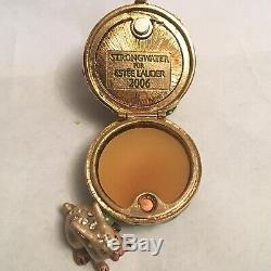 2006 Estee Lauder Jay Strongwater Jardin Lapin Blanc Lin Solide Box Compact