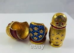 2008 Estee Lauder Belle Parfum Solide Compact Russe Nesting Doll