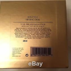 2008 Estee Lauder Poupée Belle Solide Compact Box Émail Et Strass