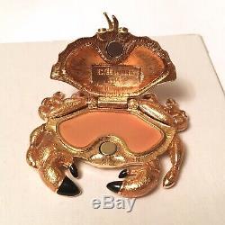 2008 Sable Estee Lauder Crabe Émail Cristal Parfum Solide Boîtier Compact