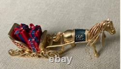 2009 Estee Lauder Pleasures One Horse Open Sleigh Solid Perfume Compact