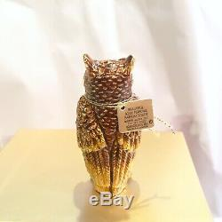 2010 Estee Lauder Jay Strongwater Belle Wise Owl Ole Solide Compact Box