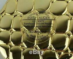 Ann Miller Coa Domaine Vintage Estee Lauder Alligator Compact Avec Boîte & Sac