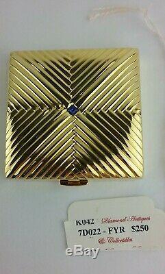 Ann Miller Domaine Coa Vintage Estee Lauder Compact Avec Strass