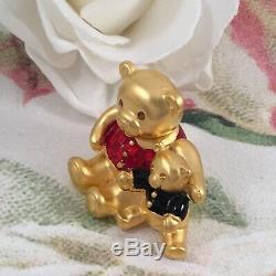 Boîte Compacte Vintage Beautiful Parfum Doré Estee Lauder Teddy Bears