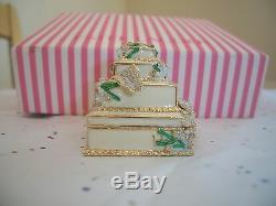 Cake De Mariage Compact Au Parfum Estee Lauder, Sylvia Weinstock, Complet, Avec Boîte