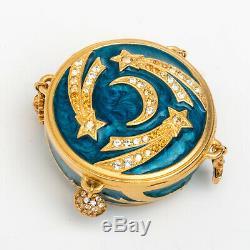 Charms Célestes Estee Lauder Parfum Solide Compact Jay Strongwater Mint Box