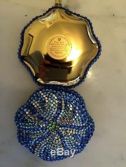 Compacte De Poudre De Cristal De Bermuda Bleue À Collectionner Exclusive D'estee Lauder