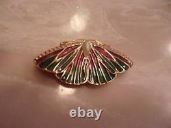 D'occasion Rare 1994 Estee Lauder Beautiful Butterfly Solid Perfume Compact