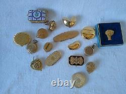 Estate Lot Vintage Parfum Compacts Pill Boxes Poudre Estee Lauder Parfum Solide