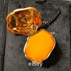 Estee Lauder 18kt Gold Ltd Ed Belle Fleur Perfume Solide Compact Rare