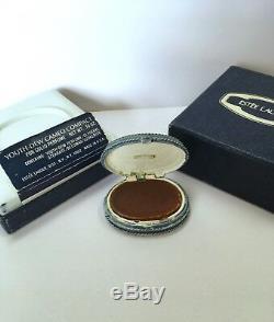Estee Lauder 1977 Cameo Solid Parfume Compact In Orig. Coffret Vintage Ultra Rare
