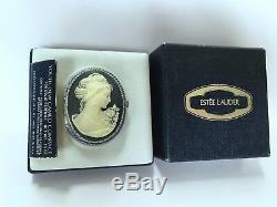 Estee Lauder 1977 Cameo Solide Parfum Compact Orig. Box Vintage Ultra Rare