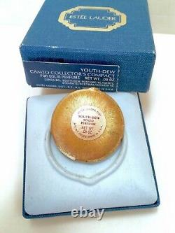 Estee Lauder 1978 Cameo Collectors Compact Solide Perfume In Orig. Vinture En Box