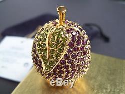 Estee Lauder 1998 Belle Prune Parfum Solide Compact Jeweled Box Trinket