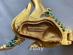 Estee Lauder 1999 Dragon Magique Solide Parfum Cristaux Verts Compact Rare