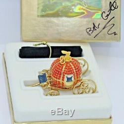 Estee Lauder 2000 Cendrillon Coach Parfum Solide Autographed Compact Par Designer