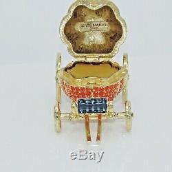 Estee Lauder 2000 Cendrillon Coach Parfum Solide Compact Autographed Retail 375 $