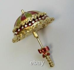 Estee Lauder 2000 Solid Perfume Compact Pretty Parasol Umbrella Mib White Linen