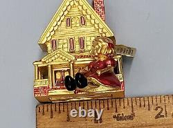 Estee Lauder 2001 Solid Perfume Compact Victorian Dollhouse Strongwater Design