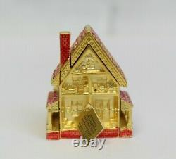 Estee Lauder 2001 Solid Perfume Compact Victorian Dollhouse Strongwater Mibb