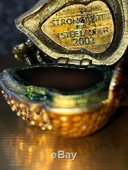 Estée Lauder 2002 Glistening Acorn Parfum Compact Par Jay Strongwater