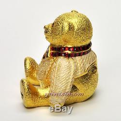 Estee Lauder 2002 Harrods Christmas Teddy Bear Compact Pour Le Parfum Solide Nib
