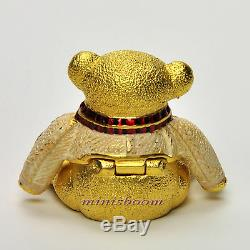 Estee Lauder 2002 Harrods De Noël Ours Compact Pour Parfum Solide Nib