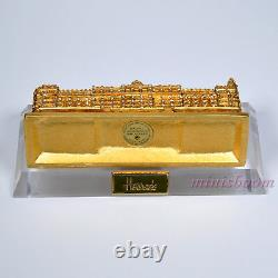 Estee Lauder 2002 Harrods Palace Solid Perfume Compact Nib Perpex Stand Inclus