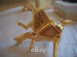 Estee Lauder 2002 Parfum Compact Pegasus Mint In Box Solid Parfum