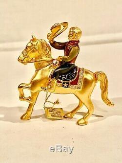 Estee Lauder 2002 Parfum Solide Compact-pleasures Rodeo Cowboy Sur Un Cheval