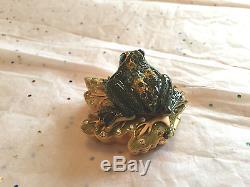 Estee Lauder 2002 Parfum Solide Compacte Vide Prince Charmante Grenouille Brillante