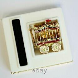 Estee Lauder 2002 Solid Perfume Compact Circus Lion Caged Mib Plaisirs