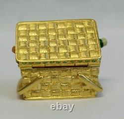 Estee Lauder 2002 Solid Perfume Compact Picnic Basket Mibb Belle