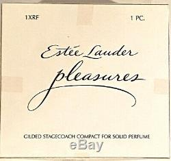 Estee Lauder 2003 Collection Parfum Solide Pleasures Compact Stagecoach
