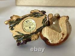 Estee Lauder 2003 Fiery Fox Solid Parfum Compact Linge Blanc Mib Strongwater