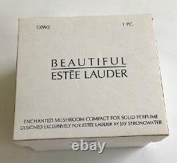 Estee Lauder 2003 Parfum Solide Compact Enchanted Mushroom Jay Strongwater Nib