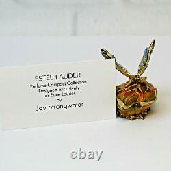 Estee Lauder 2003 Perfume Solide Compact Bejeweled Butterfly Strongwater Mibb