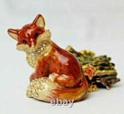 Estee Lauder 2003 Solid Perfume Compact Fiery Fox Strongwater Mibb Linge Blanc