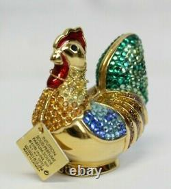 Estee Lauder 2004 Parfum Compact Bejeweled Rooster Judith Leiber Mibb Intuition