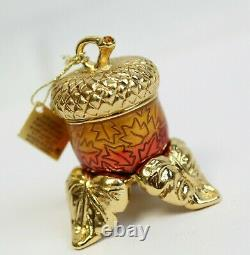 Estee Lauder 2004 Perfume Solide Acorn Amulet Compact & Stand Mibb Intuition