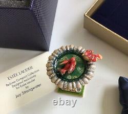 Estee Lauder 2004 Solid Perfume Compact Precious Bird Jay Strongwater Nib